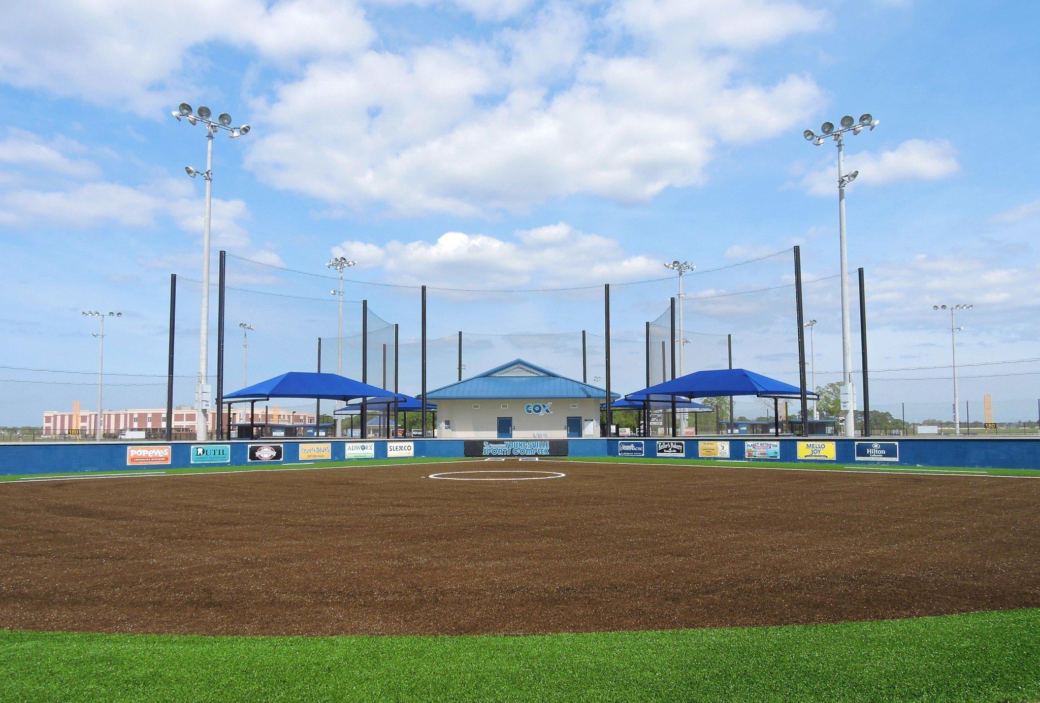 Softball Fields with turf