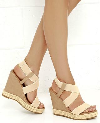 01b16734d5e Ashore Bet Beige Platform Wedge Sandals