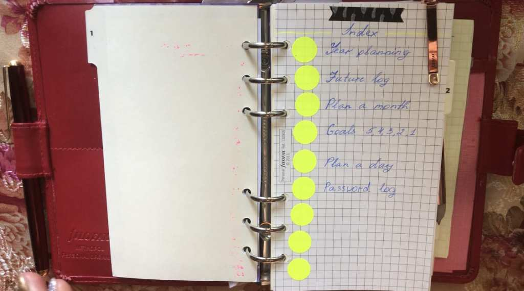 bullet journalfirst page