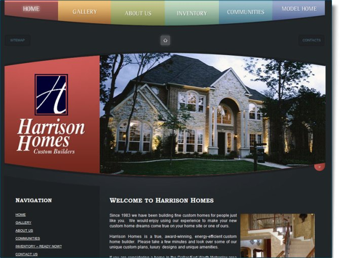 Construction Website Design for Harrison Homes    Your Web Guys Now this high end custom