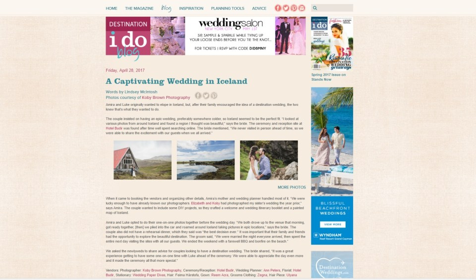 Iceland Wedding on Destination I Do