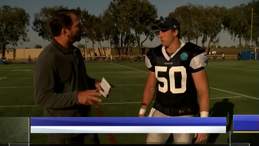 Dallas Cowboys Insider- Spends time with Sean Lee_60917217
