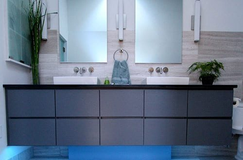 cool gray bathroom vanity
