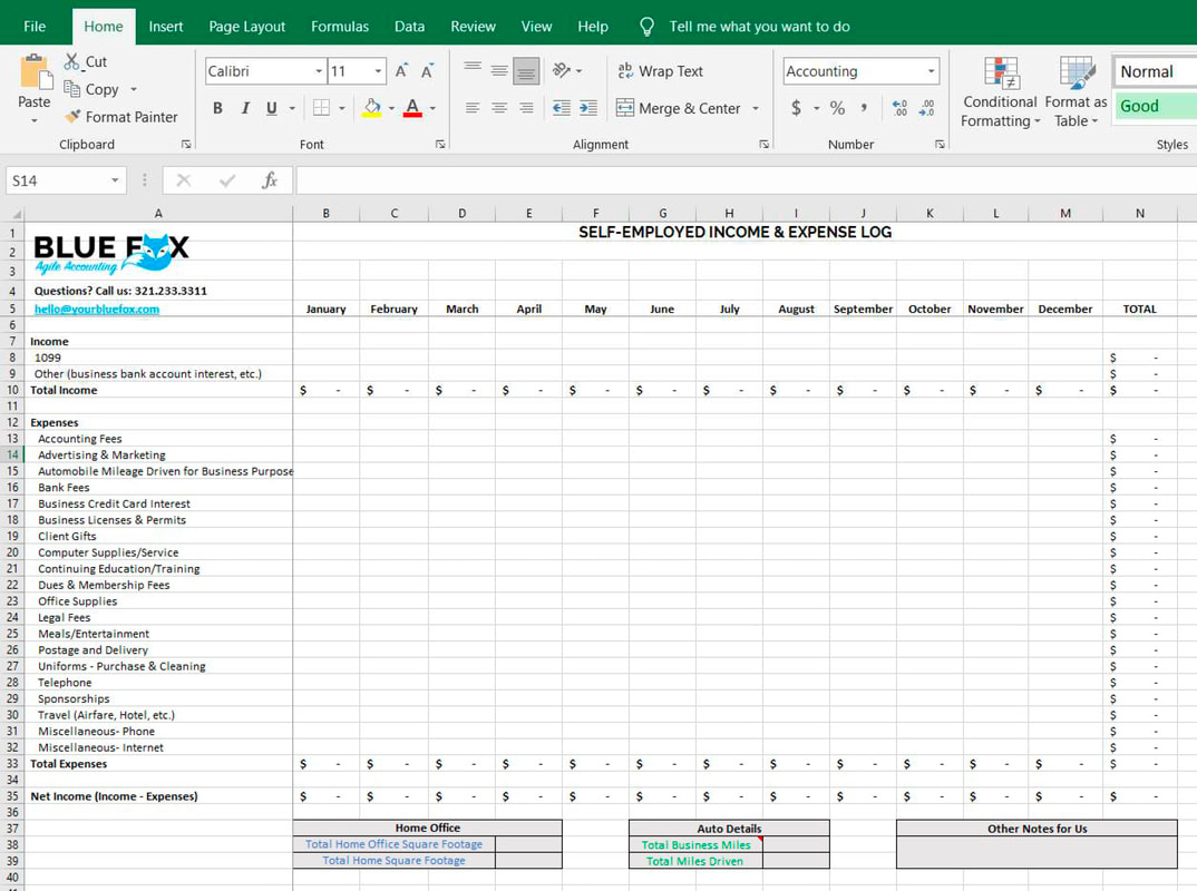 Free Download Schedule C Excel Worksheet For Self