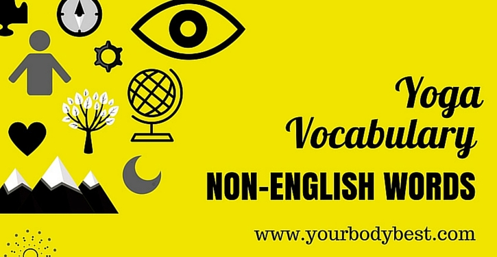 yoga vocabulary non english words