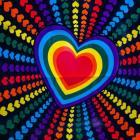 multicolor vivid heart