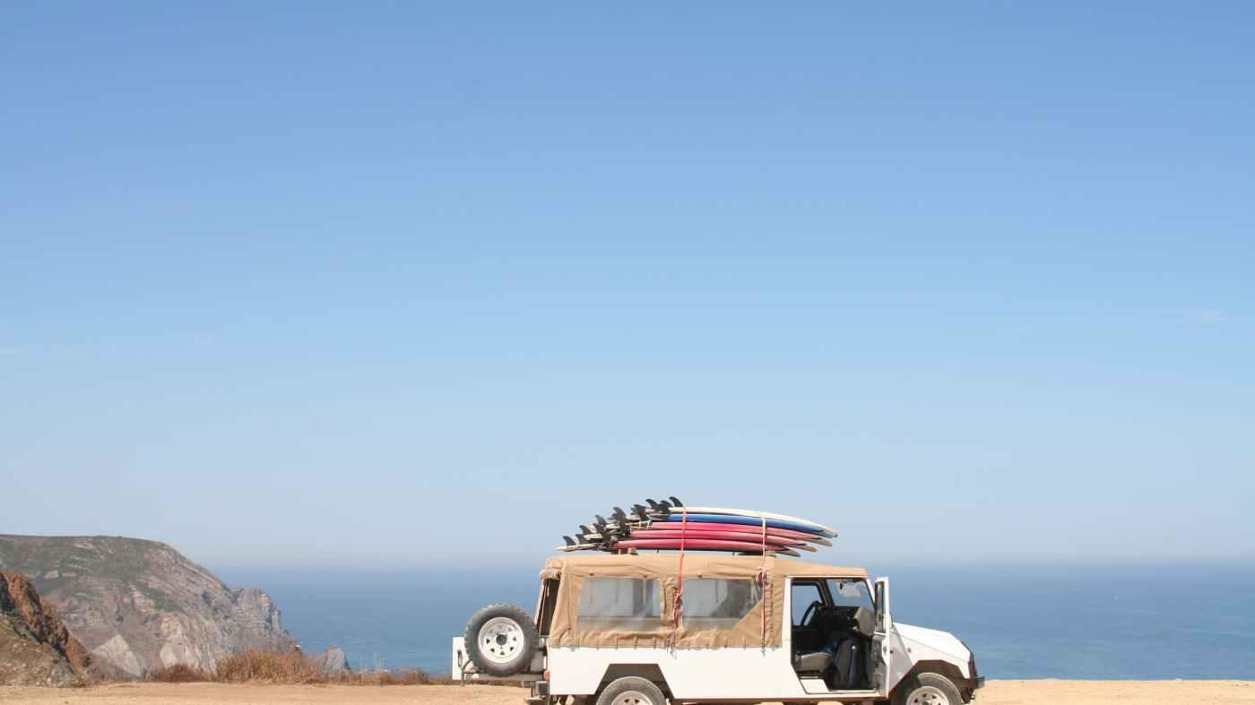 auto beach car desert