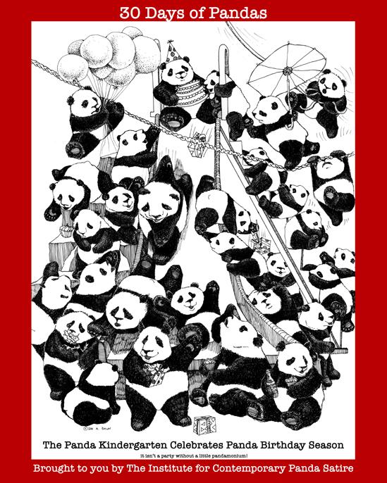 30 days of pandas poster