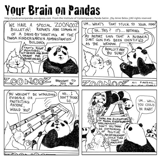 panda kindergarten naughtyness