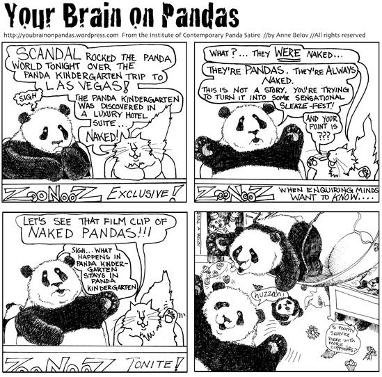 The panda kindergarten in las vegas hotel room