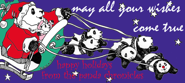 Have yourself a pandy little Christmas....