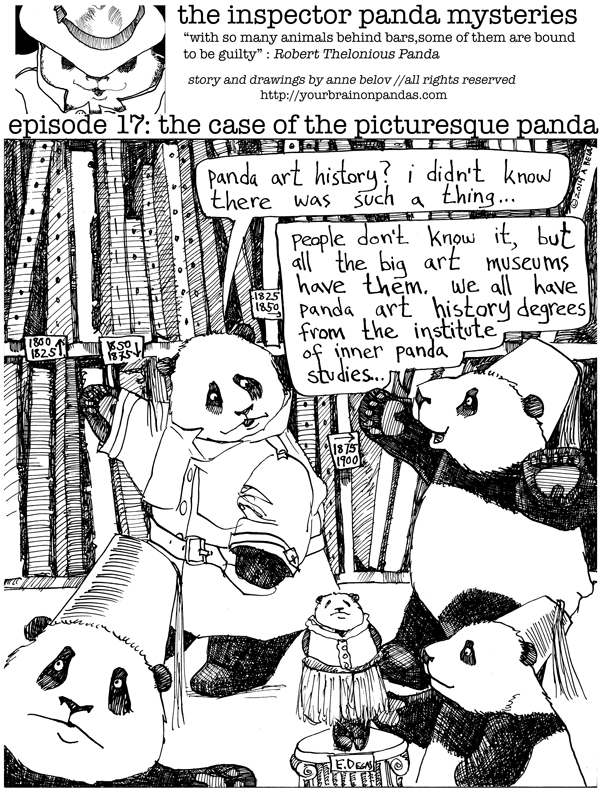 And look at those stacks of paintings! Did you realize there were so many fine art pandas in existence?