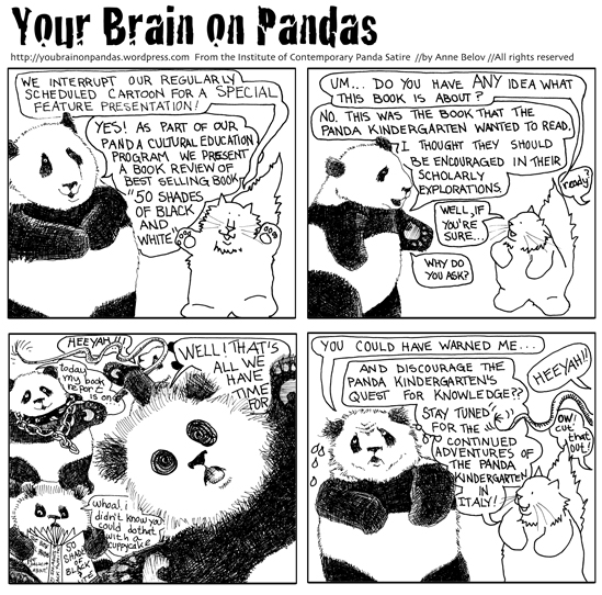 We really need to more thoroughly check the panda kindergarten's reading list.