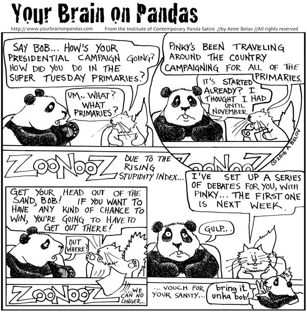 """I thought I had until November."" -Bob T Panda"