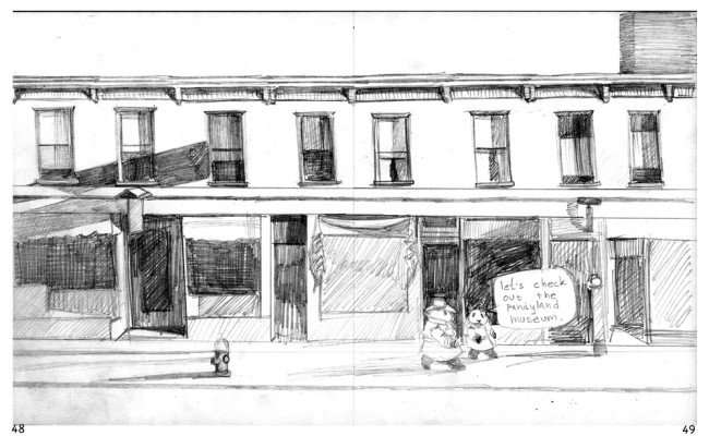 36) From The Case of The Picturesque Panda; pencil roughs