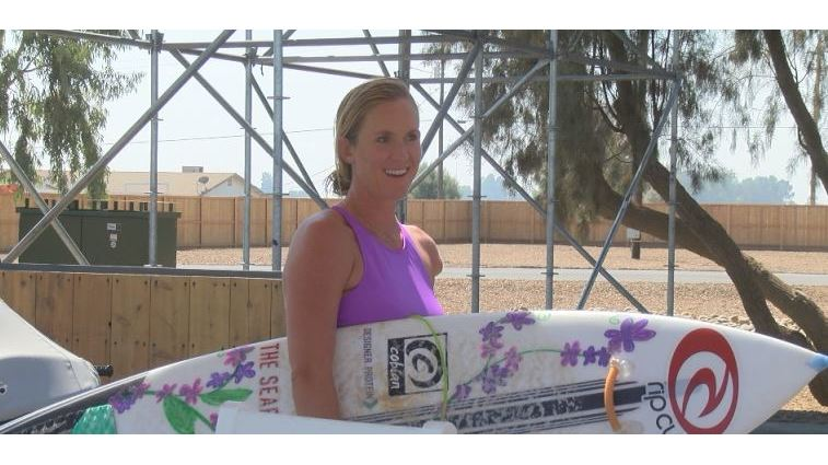 Bethany Hamilton in Lemoore at the Surf Ranch