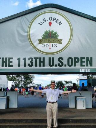 Dr. Manison at the 113th U.S. Open