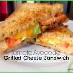Tomato Avocado Grilled Cheese Sandwich