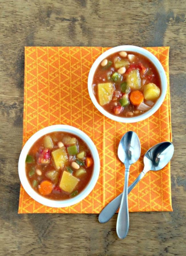 Slow Cooker Pumpkin Stew - made with real pumpkin! | Recipe via www.yourchoicenutrition.com