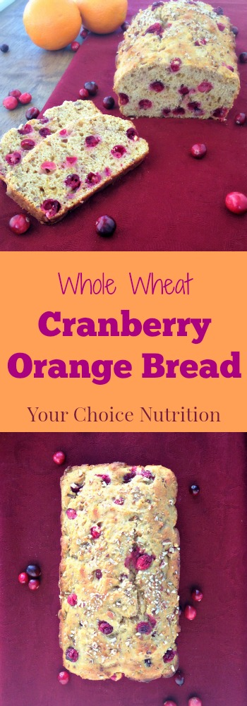 Whole Wheat Cranberry Orange Bread