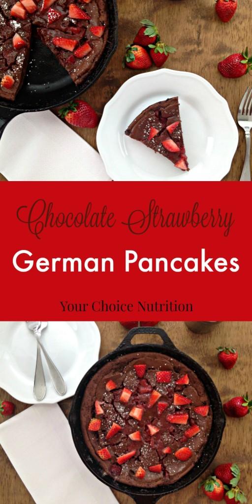 Chocolate Strawberry German Pancakes @bpoulsonrd