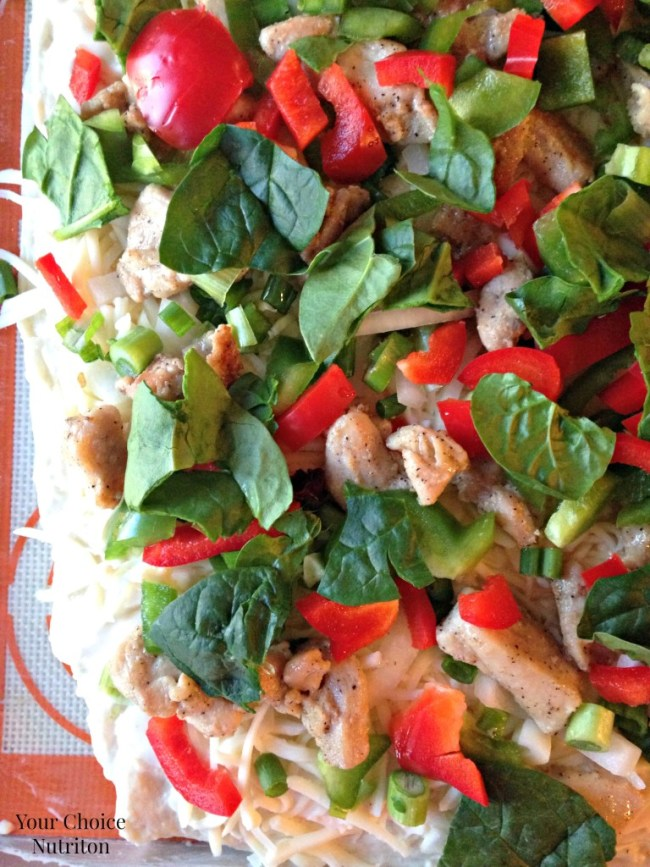 Veggie Packed Chicken Alfredo Pizza - Your Choice Nutrition