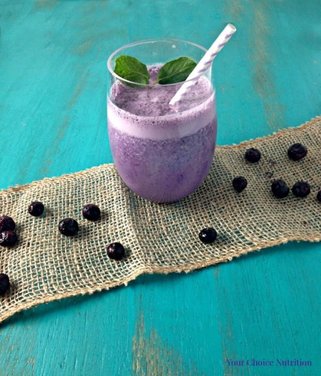 Wild Blueberry Mint Smoothie