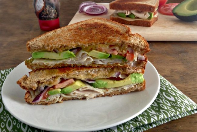 Grilled Turkey Avocado Sandwiches Featuring Sea Salt And Cracked Pepper Sabra Spreads An Easy