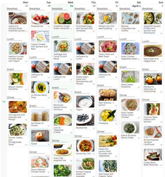 Your Choice Nutrition Meal Plans via Gathered Table. Makes meal planning a breeze! | www.yourchoicenutrition.com