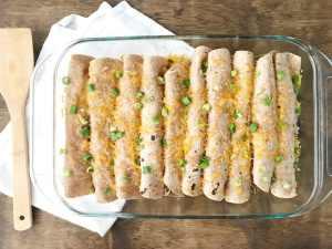 Hummus Chicken Enchiladas