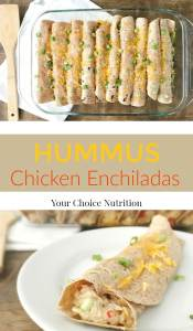 Hummus Chicken Enchiladas