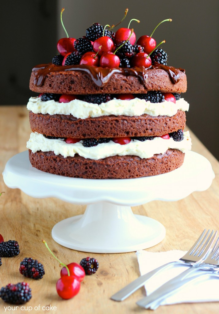 Blackberry Forest Cake Your Cup Of Cake