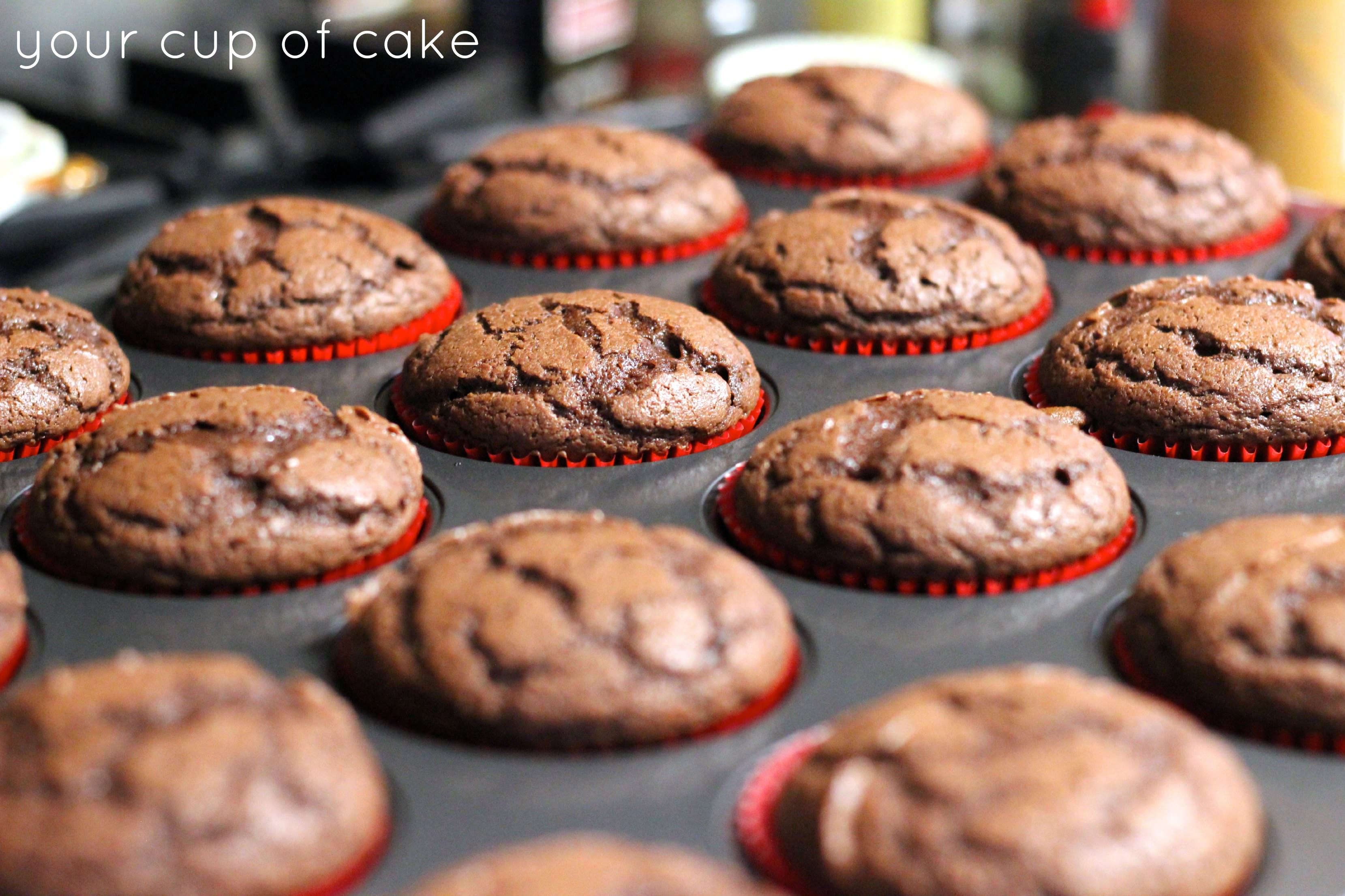 Salted Chocolate Cupcakes