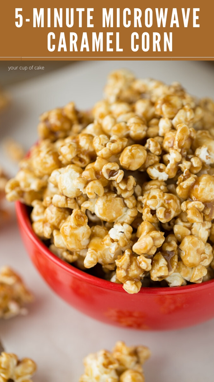 easy microwave caramel corn your cup