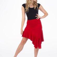 capezio short ruffle skirt