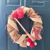 Baseball Burlap Wreath from Your Day Your Style