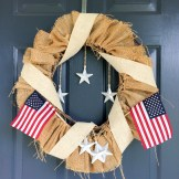Forth of July Burlap Wreath from Your Day Your Style