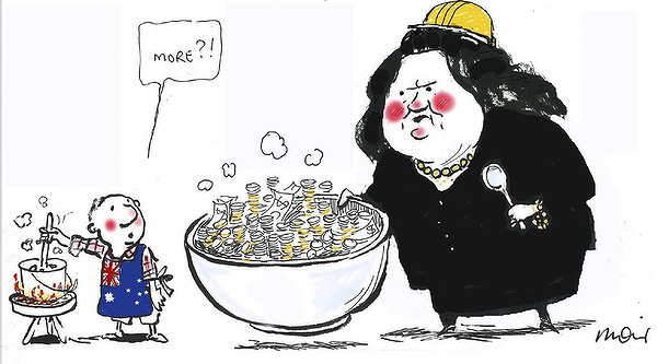 Image result for cartoon gina rinehart