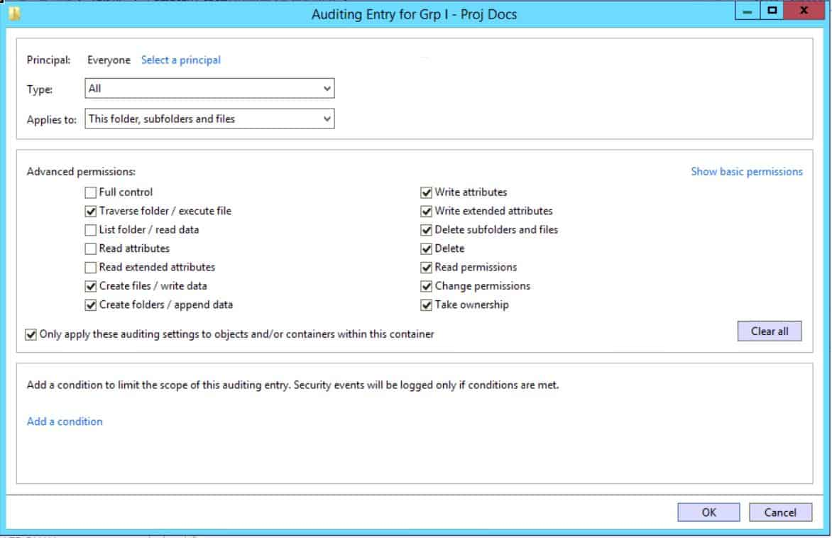 How to Enable File Auditing in Windows Server 2012 R2