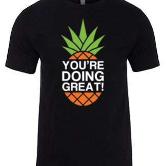 YDG Pineapple Unisex Black T-shirt