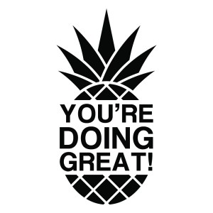 Pineapple Monotone Black