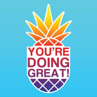 Pineapple Sunset Gradient Sticker