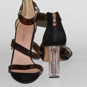 sandales noires talon femme