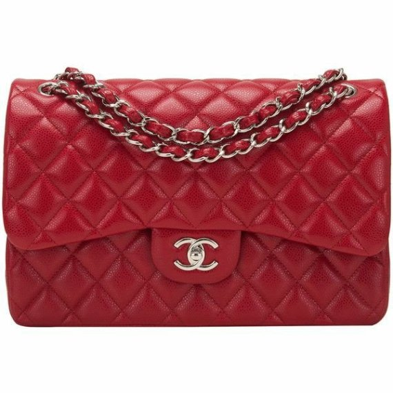 sac chanel timeless cuir rouge