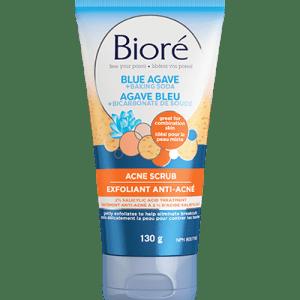 exfoliant anti acné agave bleu bicarbonate bioré