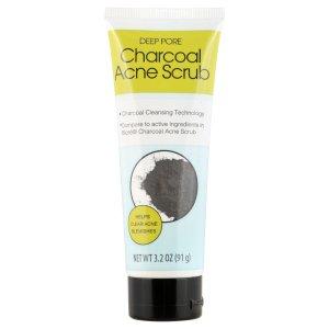 gommage anti acné au charbon deep pore