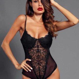 bodysuit dentelle sexy noir