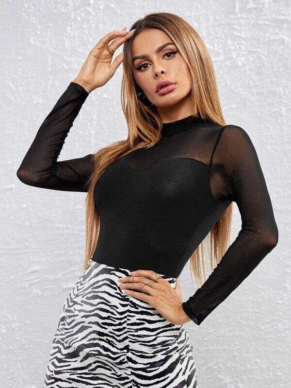 body femme manche longue élégant