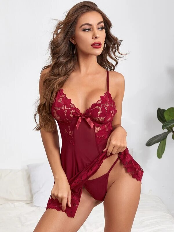 nuisette femme sexy rouge