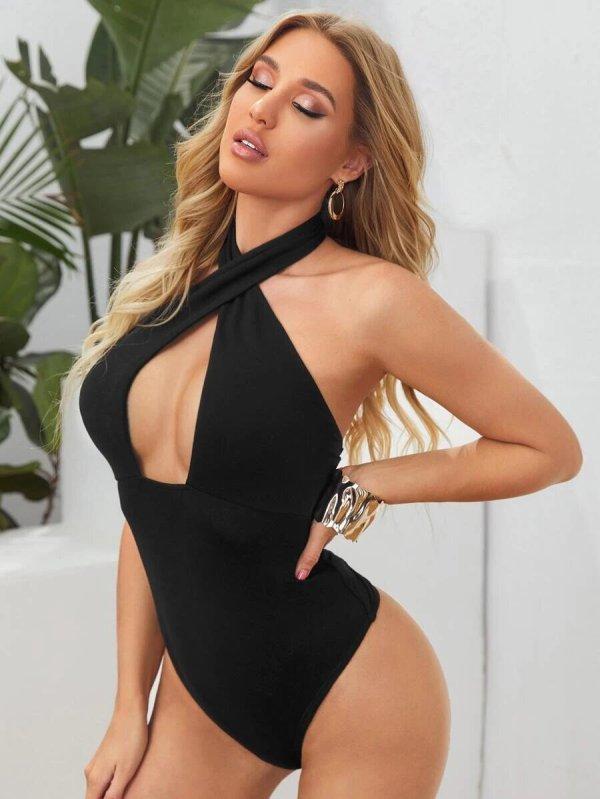 bodysuit femme dos nu noir